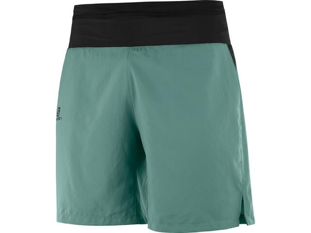 Salomon XA Pantalones Cortos de Entrenamiento Hombre, balsam green